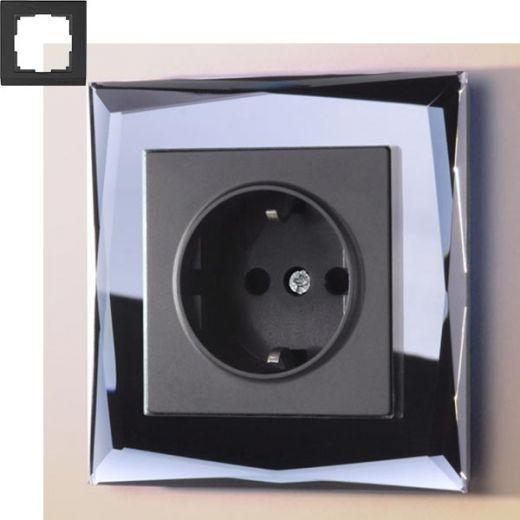 Рамка на 1 пост Werkel WL08-Frame-01 Черный