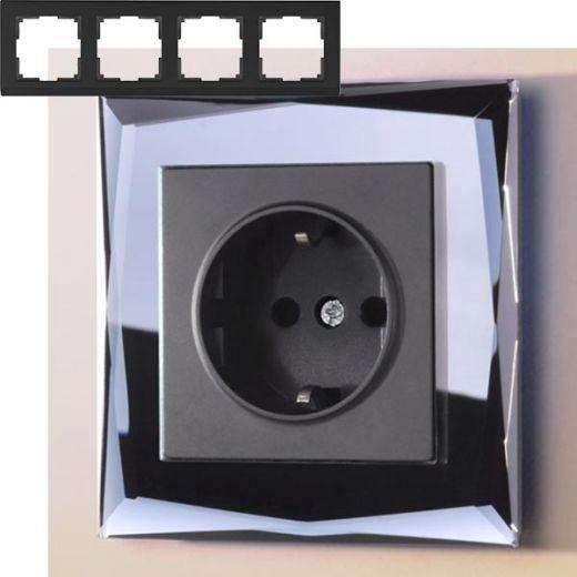 Рамка на 4 поста Werkel WL08-Frame-04 Черный