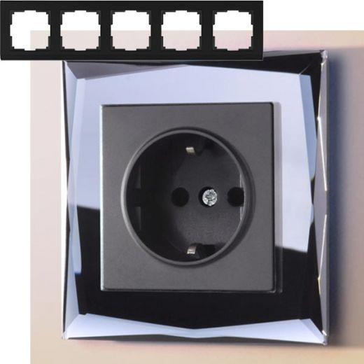 Рамка на 5 постов Werkel WL08-Frame-05 Черный