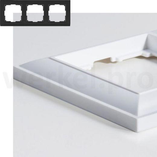 Рамка на 3 пост WL14-Frame-03 белый