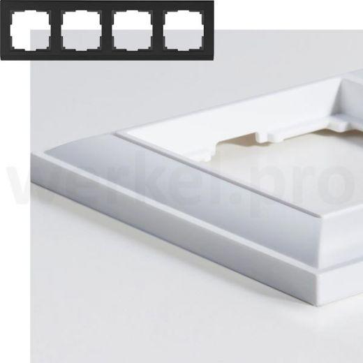 Рамка на 4 пост WL14-Frame-04 белый
