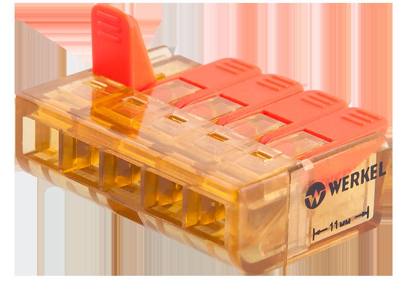 Клемма рычажная 5-проводная TR-02-05 5шт в упаковке
