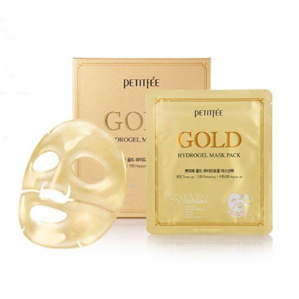 Маска для лица гидрогелевая с золотом PETITFEE GOLD Hydrogel Mask Pack 32гр