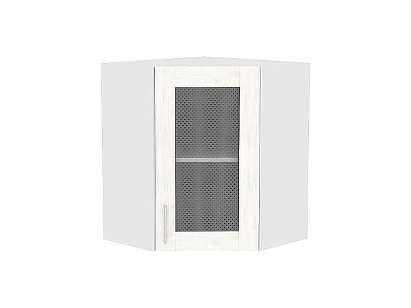Шкаф верхний угловой Лофт ВУ590 со стеклом (nordic oak)