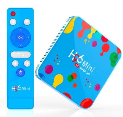 Приставка Смарт TV Box H96 mini 6K Ultra HD Андроид 9.0 4/128 Гб