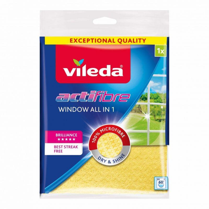 Салфетка Vileda Для мытья окон 4 в 1, 1 шт.