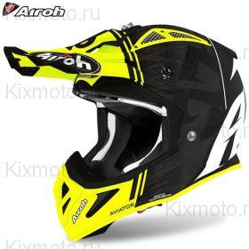 Шлем Airoh Aviator Ace Kybon, Жёлтый матовый
