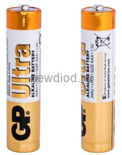 Батарейка GP LR03 Ultra Alkaline (Пленка 2 шт.)