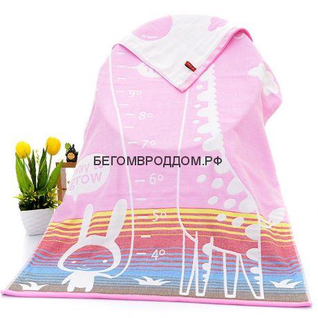 Полотенце тканевое «Жирафик», розовый, 70*140