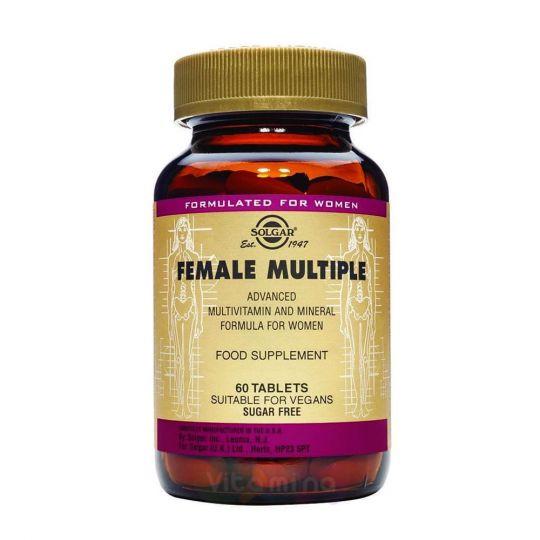 Солгар Мультивитаминный и минеральный комплекс для женщин, 60 таблеток