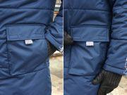 Замечательные вместительные двойные карманы-порфельчики по бокам: можно и руки погреть, и положить перчатки или ключи.