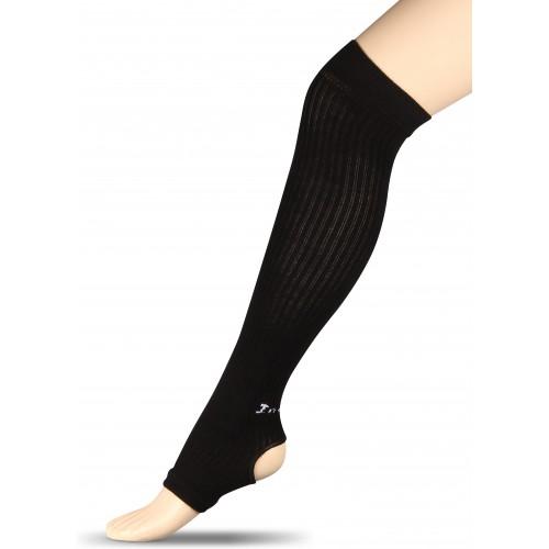 Гетры компрессионные для гимнастики и танцев (хлопок) INDIGO ЛВ3 черные