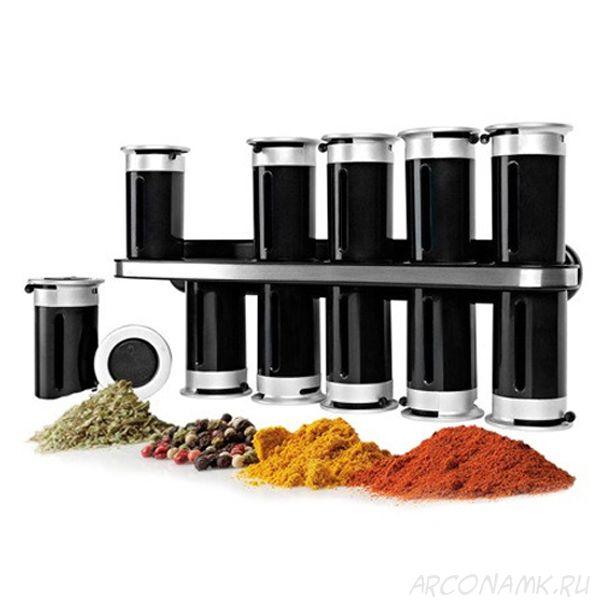 Набор для специй Wall Mounyed Magnetic Spice Rack, 12 предметов