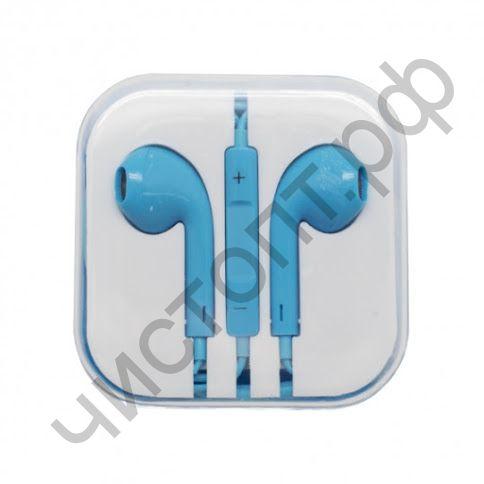 Гарнитура (науш.+микр.) для сотов. OXION HS-PI-001L-BL plastic box синий