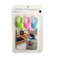 Силиконовый Хомут Lock-Shape Silicone Cable Tie, 3 шт, Форма Сердечко