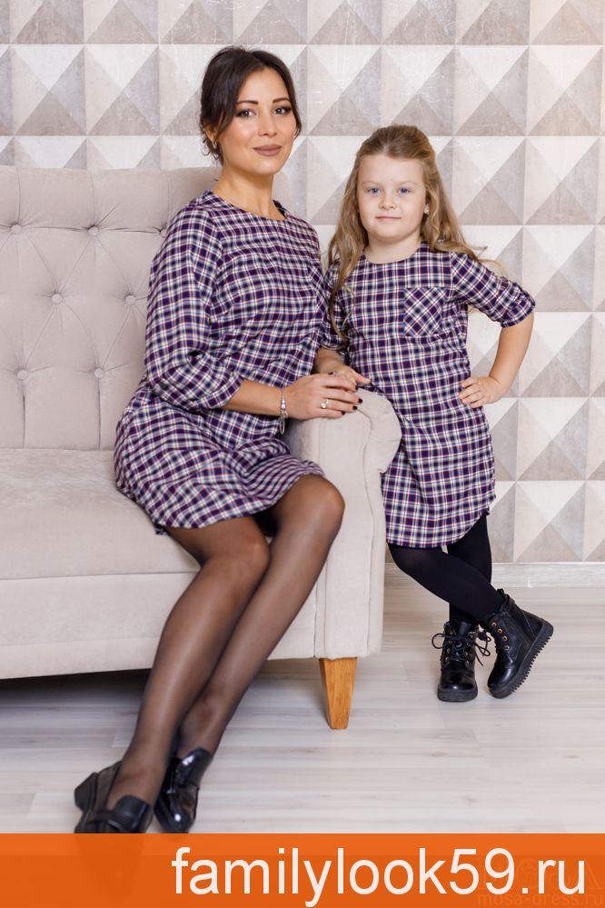 """Комплект платьев мама+дочка """"Канзас"""" М-2100"""