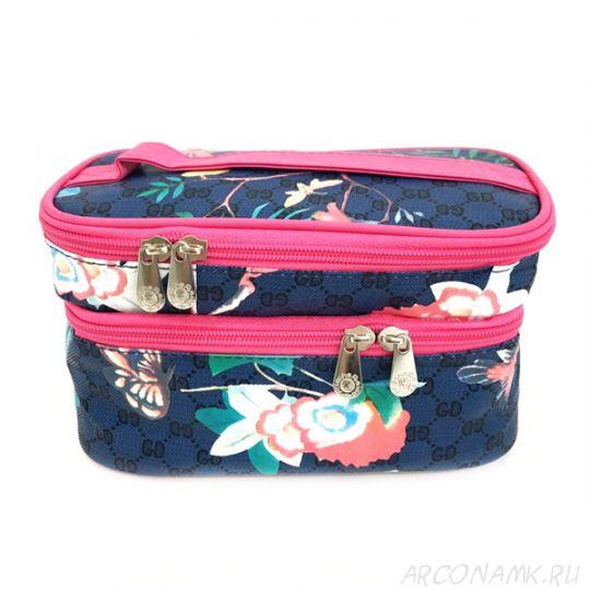 Органайзер-косметичка для путешествий Travel Cosmetic Bag, Синий/Колибри