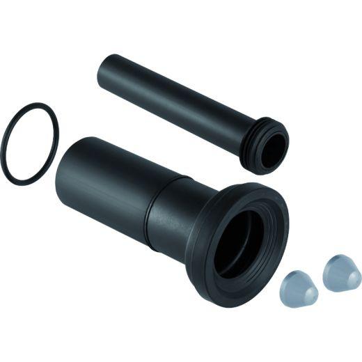 Комплект соединительный Geberit для подвесного унитаза, L 26,5 см: d 90 мм, d1 45 мм, матовый хром