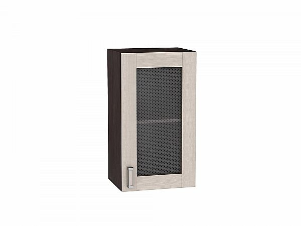 Шкаф верхний Лофт В400 со стеклом (Cappuccino Veralinga)
