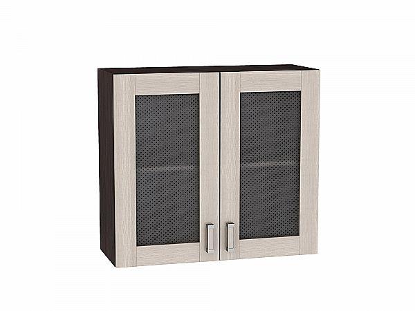 Шкаф верхний Лофт В800 со стеклом (Cappuccino Veralinga)