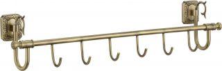 Планка с крючками (6 крючков) Savol S-006476.бронза