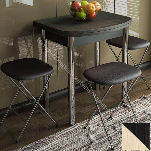 Стол обеденный с хромированными ножками «Лион (мини)»