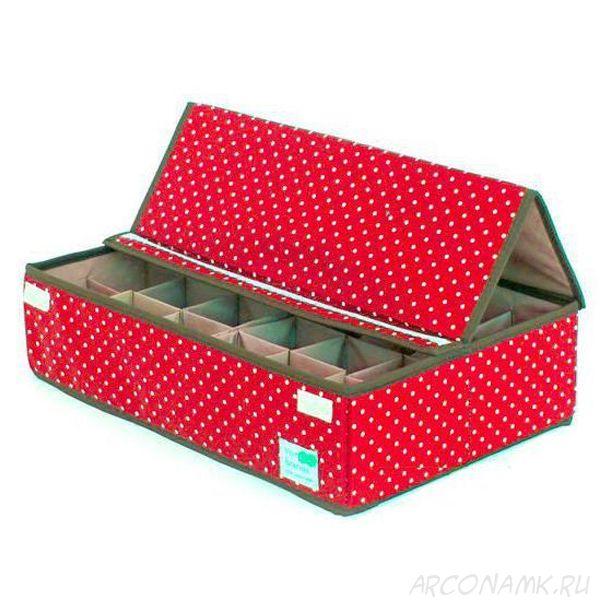 Складной кофр для хранения носков и нижнего белья, Цвет: Красный