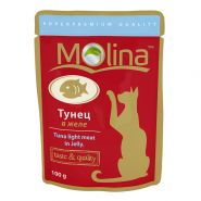 Molina Влажный корм для кошек Тунец в желе, 100г