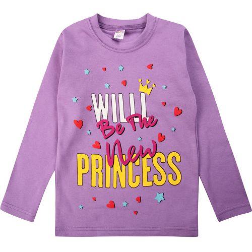 "Лонгслив для девочки Bonito kids ""Princess"" 5-8 лет"