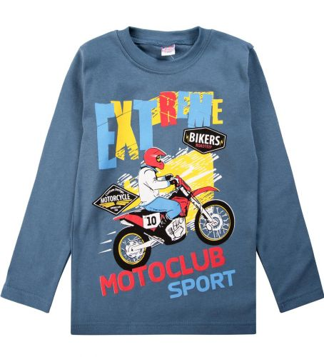 "Лонгслив для мальчика Bonito kids ""Extreme sports motoclub"" 5-8 лет"