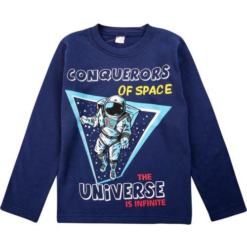 """Лонгслив для мальчика Bonito kids """"Conquerors of Space"""" 5-8 лет"""