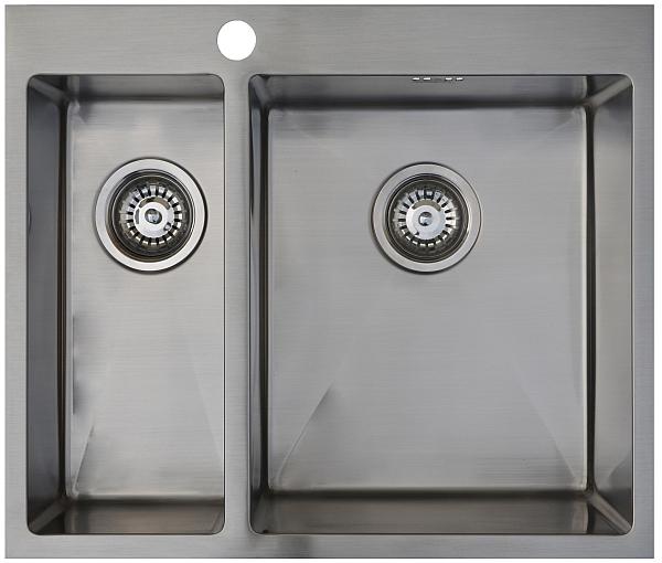 Врезная кухонная мойка Seaman ECO Marino SMB-6151DLS.A 61х51см нержавеющая сталь