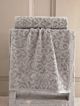 "Полотенце махровое ""KARNA"" HAZAL 50*90 см (коричневое) Арт.3156-2"