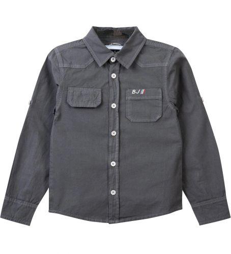 Рубашка для мальчика Bonito Jeans 7-10 лет серая, поплиновая