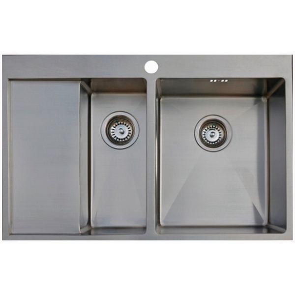 Врезная кухонная мойка Seaman ECO Marino SMB-7851DLS.B 78х51см нержавеющая сталь
