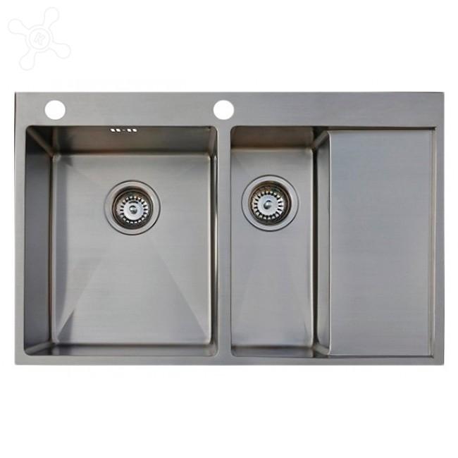 Врезная кухонная мойка Seaman ECO Marino SMB-7851DRS.B 78х51см нержавеющая сталь