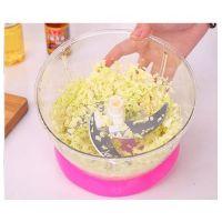 Универсальная Механическая Овощерезка Multi- functional Food Cooking Machine, Цвет Розовый (5)