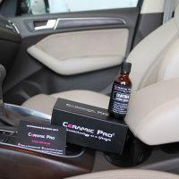 Нанесение кварцевой защиты на кожу салона авто Ceramic Pro Leather