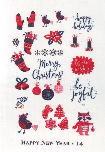 Слайдер-дизайн HAPPY NEW YEAR новогодие фразы, слова 014