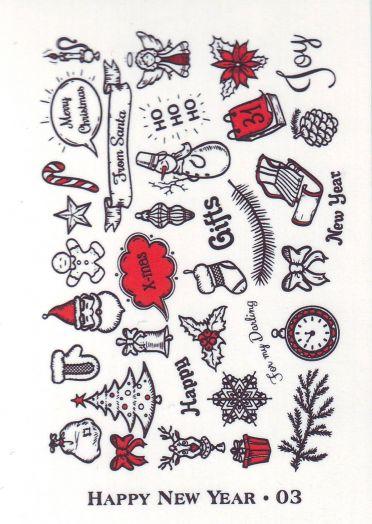 Слайдер-дизайн HAPPY NEW YEAR новогодие фразы, слова 003