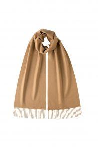 однотонный кашемировый шарф (100% драгоценный кашемир), цвет Верблюжий, CAMEL CLASSIC cashmere, высокая плотность 7.