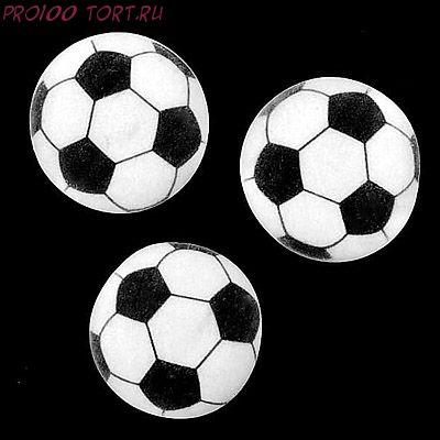 Украшение сахарное  Футбольный мяч  1шт/уп