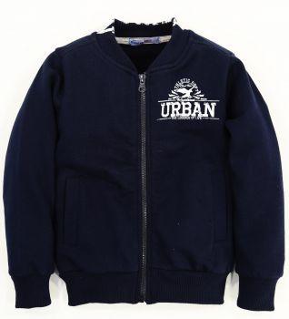 """Толстовка для мальчика Bonito """"Urban"""" темно-синяя с начёсом"""