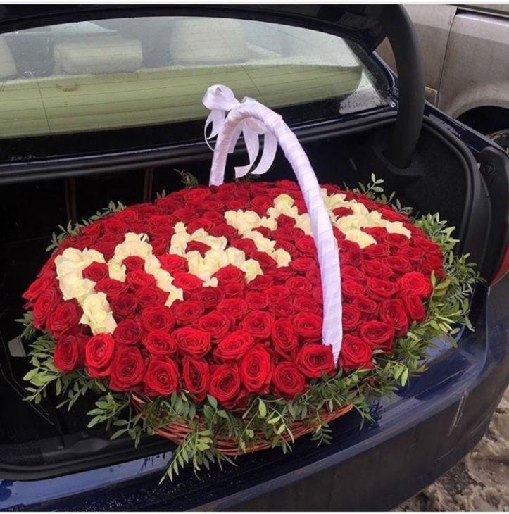 Корзина из роз Для Мамы