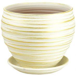 горшок Классика бел/зол.24см 4-06 (33-96)