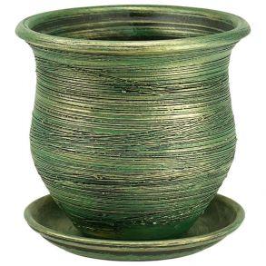 горшок мешок d19/h17 зеленый 3-03 (15-103)