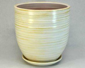 горшок эко 3 (бел/зол) 30см 5-06 (30-306)