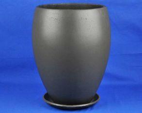 горшок Эллипс-2 d35/h50см (графит) (U241)