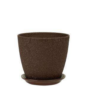 горшок бутон Винил шоколад 12см (ВН 04/1)