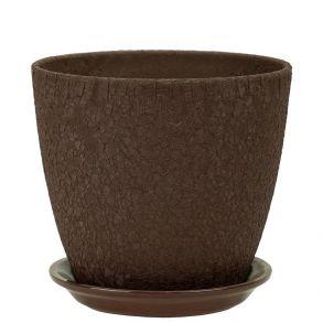 горшок бутон Винил шоколад 18см (ВН 04/3)